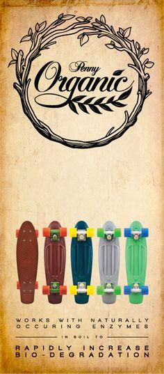 Penny Organics, Biodegradable Plastic Skateboards
