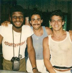 Larry Levan and friends at paradise garage, NYC