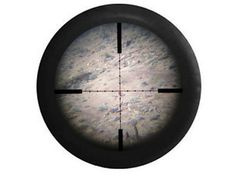 Full Color Sniper View through Rifle Scope Military by TheCoverGuy                                                                                                                                                     Plus