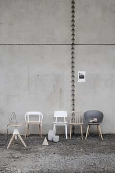 | COLOUR ME | GRAY meets WOOD   Adore the work of creative talent - Amanda Rodriguez: When concrete meets wood - Thisispaper Magazine  #hay #aboutchair