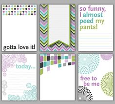 Printable Digital Journaling & Filler Cards - Project Life or scrapbooking digital designs.