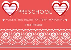 Fun Activities for Children: Valentine Heart Pattern Matching