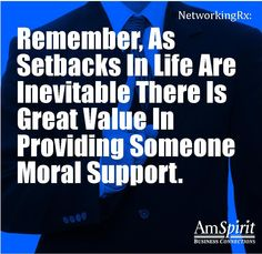 #NetworkingRx: How do you reach out to someone who is suffering a setback?