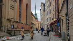 Wondering on the streets of Old Town Stockholm.