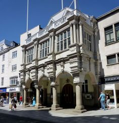 The Guildhall - High Street Exete / Exeter's Guildhall is claimed to be England's oldest civic building still in use.