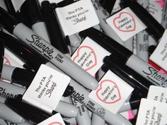"Valentine's Sharpie with Label ""The PTA thinks you're ""Sharp"""