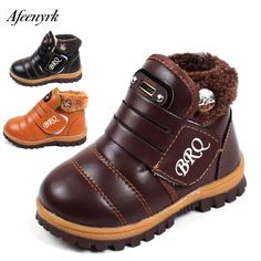 Winter Snow Boots Boys Girls Chaussure enfant 2017 New kids non-slip Thickening Warm Plush soft Bottom Children's Cotton Shoes #Affiliate