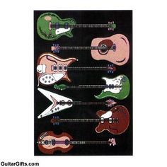Awesome Guitar Rug - guitar gifts ideas!