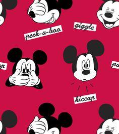 Disney Mickey Faces Fleece FabricDisney Mickey Faces Fleece Fabric,