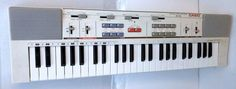 Vtg Casio Tone MT-200 Keyboard White 49 Key Portable Electronic Piano Synth RCA #Casio