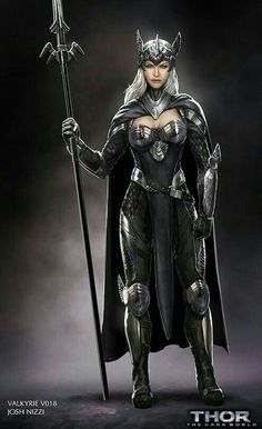 Check out Thor: The Dark World concept art by Josh Nizzi ! There are some very strong women in Thor The Dark World like Jane Foste. Thor 2, Loki, Fantasy Women, Fantasy Girl, Fantasy Team, Dark Fantasy, Tattoo Thor, Valkerie Tattoo, Character Portraits