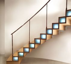 Floating circular design staircase (wooden steps) COMPON Marretti