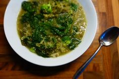 Detox Greens Soup with Welsh Miso, Ginger and Green Lentils