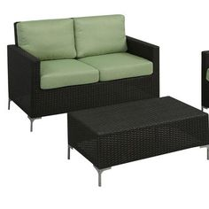 (CLICK IMAGE TWICE FOR UPDATED PRICING AND INFO) #home #patio #outdoor #furniture #sofa #patiosofa #outdoorsofa see more patio sofa at http://zpatiofurniture.com/category/patio-furniture-categories/patio-sofa/ -  Napa Springs 2 Piece Deep Seating Group with Cushions Fabric: Green « zPatioFurniture.com