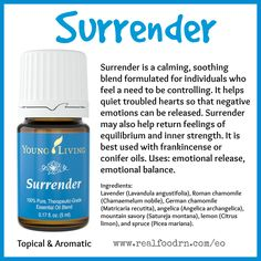 Surrender Essential Oil. Find emotional balance and emotional release. #surrender #essentialoils