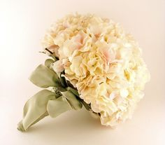 Bridal Bouquet of Real Touch Blush Pink Hydrangea - Oh my goodness this is georgous!!!