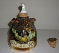 Handmade Clay Rat Saliva Soap Dispenser Artist Judhe Jensen Of Topeka Kansas