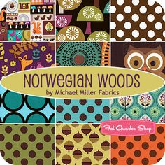 Norwegian Woods Fat Quarter Bundle Michael Miller Fabrics - Fat Quarter Shop.... Don't know what I would use this for yet...but it's so cute!