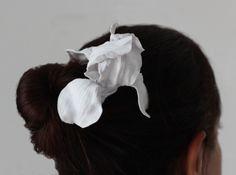 Iris Hair Pick in White Strong & Flexible
