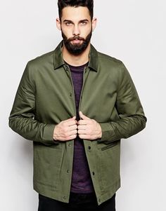 River Island Lightweight Coach Jacket In Khaki