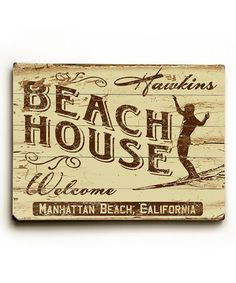Another great find on #zulily! 'Beach House' Personalized Wall Sign #zulilyfinds