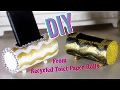 DIY crafts: PHONE HOLDER from toilet paper rolls
