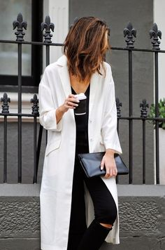 hair, coat, black+white