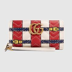 GG Marmont Trompe l'oeil zip around wallet - Gucci Women's Zip Around 466490DW5FT9187
