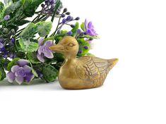 Vintage Brass Duck - Duck Figurine - Collectible Duck - Duck Paperweight - Bird Wildlife - Duck decor - Farmhouse brass decor - Duck lover