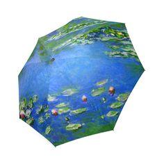 Claude Monet Water Lilies 1906 Floral Fine Art Foldable Umbrella
