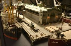 Magoun pier at work. Photo and modeling by Greg Shinnie