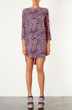 Topshop Animal Print Tunic Dress available at #Nordstrom. The high-low silhouette of this dress is something currently seen everywhere in the fashion world. Alexandra W.