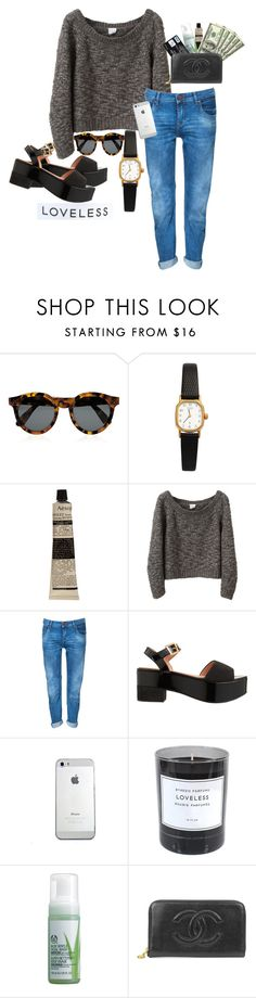 """""""Sin título #50"""" by organichild ❤ liked on Polyvore featuring Illesteva, American Apparel, Aesop, VPL, Zara, Robert Clergerie, Byredo, The Body Shop and Chanel"""