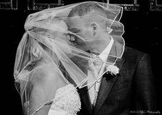 Romantic wedding photography in Gateshead, Tyne & Wear.  Bride and Groom kissing under the veil ---  www.effiesphotography.co.uk  ---  weddings@effiesphotography.co.uk