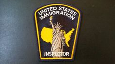 United States Immigration Inspector Patch (Vintage - Prior to merge with Department of Homeland Security)
