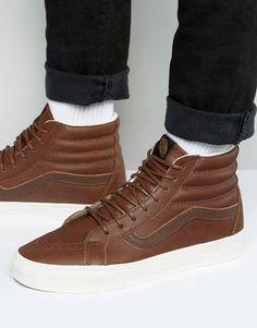598a0a99a9 Vans Sk8-Hi Reissue Sneakers In Brown VA2XSBLYW