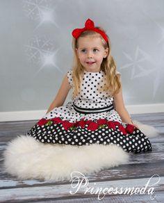 LINJA - Elegantes Festkleid für alle Anläße! Reine Baumwolle! - Princessmoda - Alles für Taufe Kommunion und festliche Anlässe