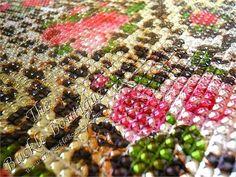 Cheetah Rose Rhinestone Jewel Self Adhesive Sticker Sheets