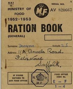 ration books - Google Search