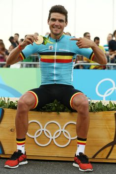 Gold medalist Greg van Avermaet Men's Road Race Rio Olympic Games 2016 Getty Images