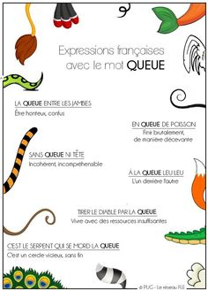 Expressions françaises avec le mot queue