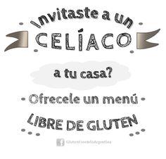 Invitaciones Gluten Free