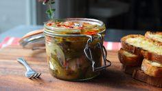 Eggplant Escabeche Recipe - Spicy Preserved Eggplant Relish - Cold Eggpl...