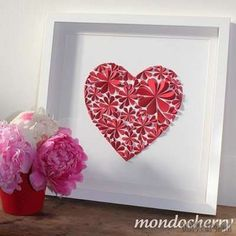 These paper flower heart wall art is gorgeous and pretty . It's a nice kids crafts and perfect for Valentine's decoration . These wall art are made with paper flowers . It's very easy ! Just cut some heart paper and fold it, these … Paper Flower Wall, Paper Flowers, Diy Flowers, Valentine Day Crafts, Valentines, Papier Diy, Heart Wall Art, Heart Frame, Heart Crafts