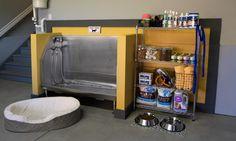 garage dog bath