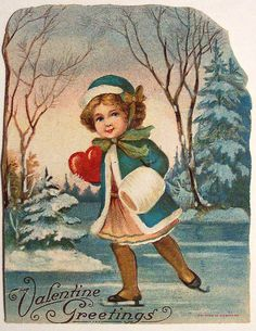 Vintage Valentine's Day Card by riptheskull, via Valentine Valentine Images, Vintage Valentine Cards, Valentines Art, Saint Valentine, Valentine Day Love, Vintage Greeting Cards, Vintage Postcards, Valentine Cupid, Vintage Christmas Images