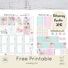 DO NOT BUY Free Printable Weekly Kit. Relaxing Day February