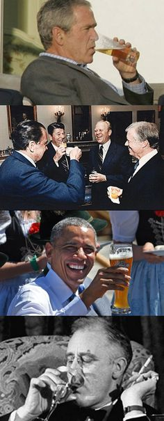 Presidents like to booze it up too.