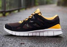 0625735e414a Nike Free Run 2 Black Black Laser Orange Mandarin 537732 008