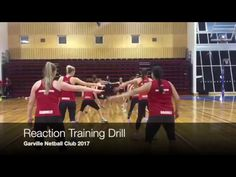 Agility and reaction training team drill for Netball and other team sports Volleyball Skills, Coaching Volleyball, Basketball Drills, Basketball Uniforms, Basketball Court, Netball Games, Basketball T Shirt Designs, Rugby League, 12 Year Old